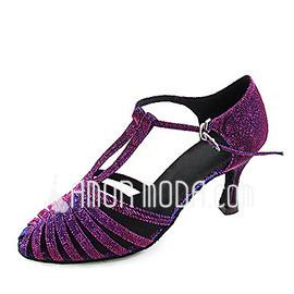 Frauen Taft Heels Absatzschuhe Moderne mit T-Riemen Tanzschuhe (053013578)