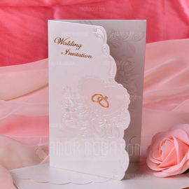 Blumen-Stil Tri-Fold Invitation Cards (Satz Von 50) (114033304)