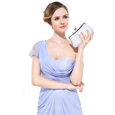 Prächtig Seide/Perle mit Strass Handtaschen (012012258)