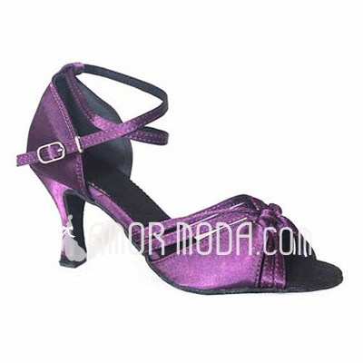 Vrouwen Satijn Hakken Sandalen Latijn Dansschoenen (053012957)