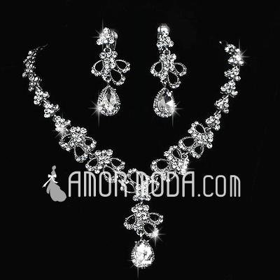 Elegant Alloy/Rhinestones Ladies' Jewelry Sets (011027001)
