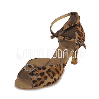 Frauen Nubuk Heels Sandalen Latin mit Knöchelriemen Tanzschuhe (053009737)