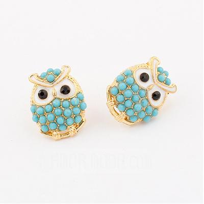 Schön Zink-Legierung mit Nachahmungen von Perlen Damen Art-Ohrringe (137047069)