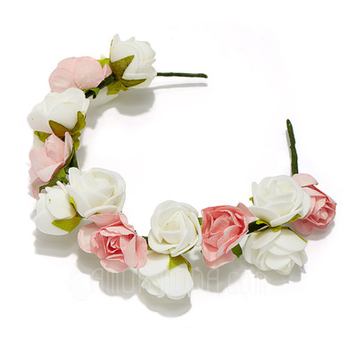 Hübsche Schaum Blumen Mädchen Kopfstück/Blumen und Federn (042026840)