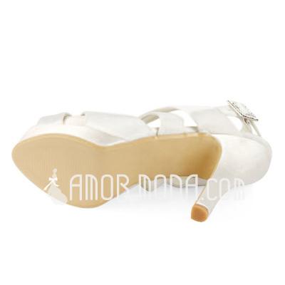 Donna Raso Tacchi a cono Piattaforma Sandalo Con cinturino con Fibbia (047011829)