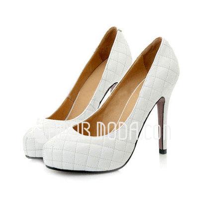 Vrouwen Kunstleer Stiletto Heel Closed Toe Plateau Pumps (047011916)