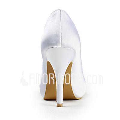 Frauen Satiniert Kegel Absatz Peep Toe Plateauschuh Absatzschuhe mit Flakem Straß (047015271)