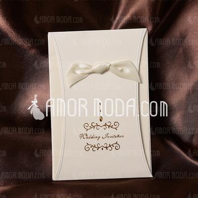 Stile classico Wrap & Pocket Invitation Cards con Nastri (Set di 50) (114032385)