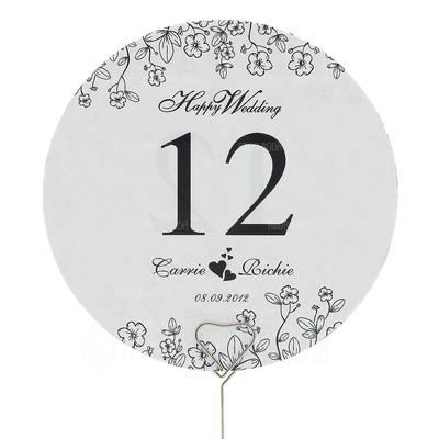 Personalizzato Disegno floreale Carta Tabella Schede di Numero con Nastri (Set di 10) (118032252)
