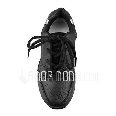 Vrouwen Kunstleer Flats Dans Sneakers Oefening Dansschoenen (053012959)