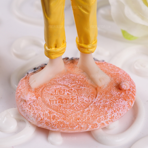 Figurilla Pareja Clásica Resina Boda Decoración de tortas (119057801)