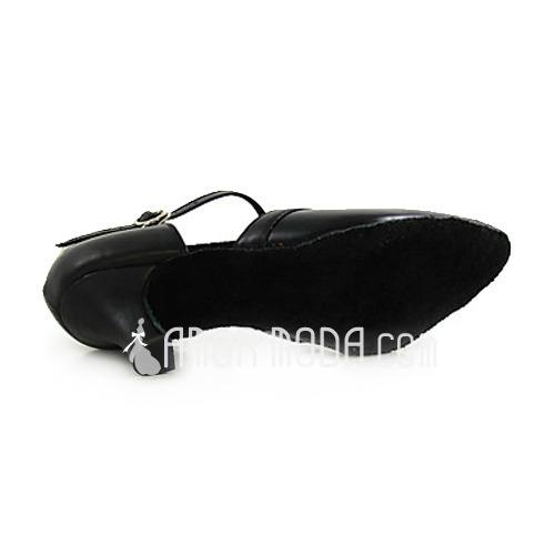 Vrouwen Echt leer Hakken Pumps Character Shoes met T-Riempjes Dansschoenen (053013128)
