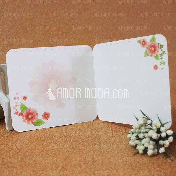 Florales Estilo Side Fold Tarjetas de felicitación (Juego de 10) (114031186)
