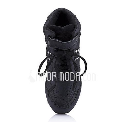 Frauen Kinder Kunstleder Flache Schuhe Tanzschuhe Training Tanzschuhe (053012960)