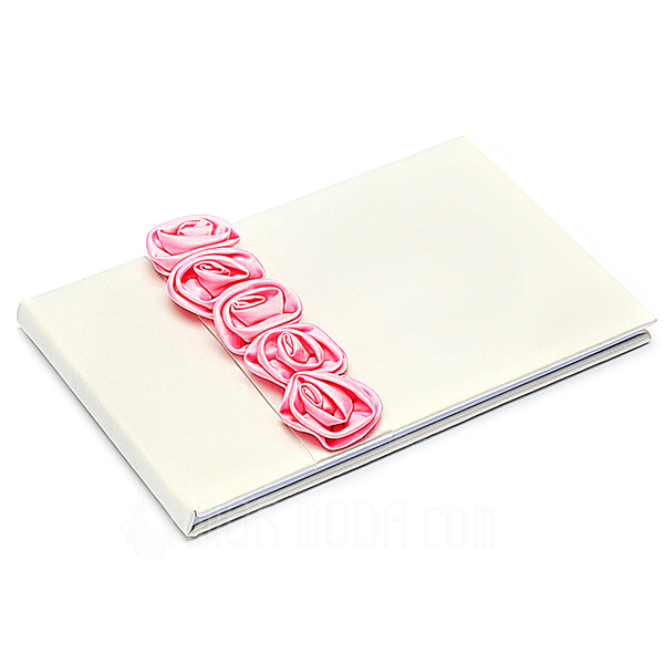Audace Rosso Luxury Rose foderato Rosa Guestbook & Set di penne (101018143)