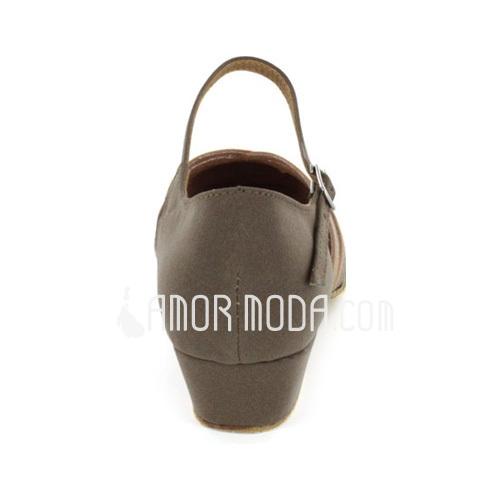 Femmes Nubuck Chaussures plates Moderne avec Lanière de cheville Chaussures de danse (053021443)
