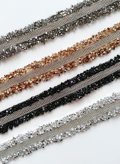 Elegante Satén Cinturón con Cuentas/Diamantes de imitación (015197462)
