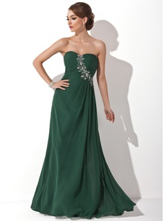 Prom Dresses A-Line/Princess Sweetheart Floor-Length Chiffon Prom Dress With Ruffle Beading (018004837)