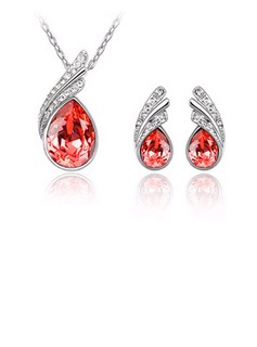 Gorgeous Alloy/Crystal Ladies' Jewelry Sets (011036514)
