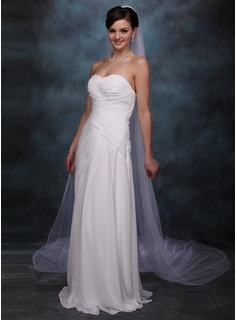 One-tier Cathedral Bridal Veils With Pencil Edge (006004087)