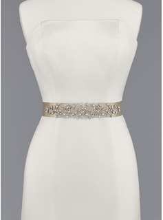 Beautiful Satin Sash With Beading (015012858)