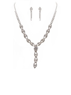 Elegant Alloy/Rhinestones Women's Jewelry Sets (011027611)
