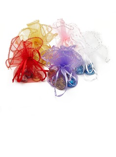Simple Organza Favor Bags With Ribbons (Set of 12) (050032583)
