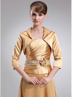 3/4-Length Sleeve Charmeuse Special Occasion Wrap (013017180)