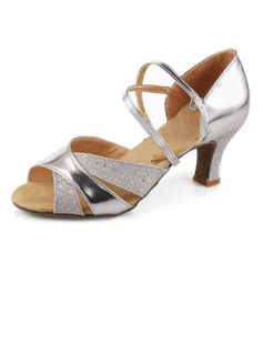Women's Leatherette Heels Sandals Latin Dance Shoes (053007246)