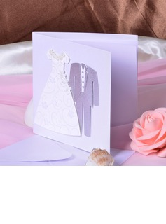 Bride & Groom Style Side Fold Invitation Cards (Set of 50) (114033294)