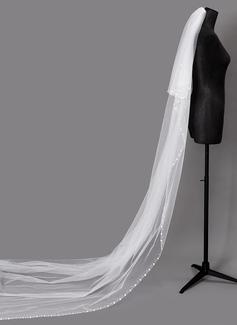 Dos capas Con abalorios Velos de novia catedral con La perla de faux (006203718)