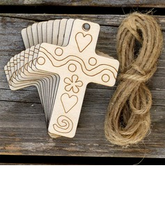 Simple/Classic Nice Wooden Wedding Ornaments (set of 10) (131178948)