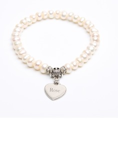 Bridesmaid Gifts - Personalized Beautiful Classic Alloy Imitation Pearls Bracelet (256173668)