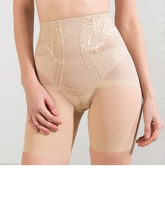 Chinlon/Tulle with Lace High Waist Shaping Panties (125033467)