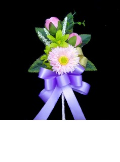 Colorful Free-Form Satin/Cotton Boutonniere (123031441)