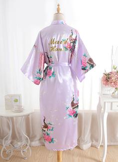 Soie Demoiselle d'honneur Robes Florales Robe à paillettes (248176097)