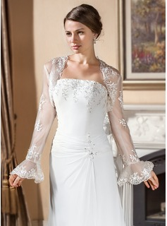 Long Sleeve Lace Wedding Wrap (013024560)