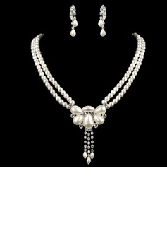 Elegant Alloy/Pearl/Rhinestones Ladies' Jewelry Sets (011005552)