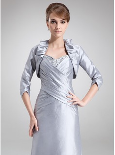 3/4-Length Sleeve Taffeta Special Occasion Wrap (013012342)