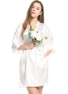 charmeuse Novia Dama de honor Togas en blanco (248178695)