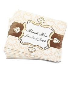 Personalized Floral Design Paper Thank You Cards (Set of 50) (118032197)