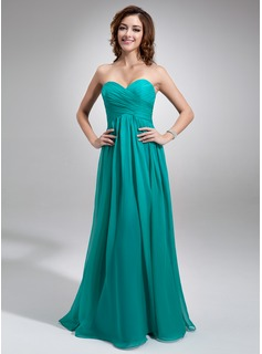 Bridesmaid Dresses Empire Sweetheart Floor-Length Chiffon Bridesmaid Dress With Ruffle (007016755)