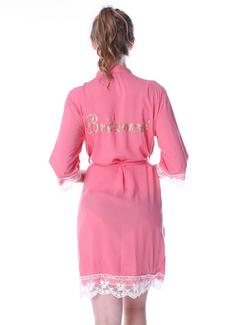Personlig Bomull Brud brudtärna Mamma Lace Robes Glitter Print Robes (248185549)