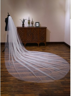 One-tier Cut Edge Cathedral Bridal Veils With Lace (006190590)