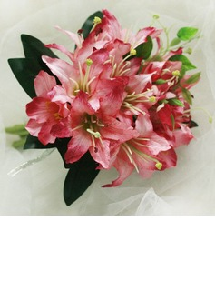 Romantic Hand-tied Satin Bridesmaid Bouquets (124032147)