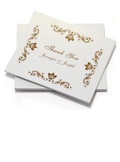 Personalized Floral Design Paper Thank You Cards (Set of 10) (118032212)
