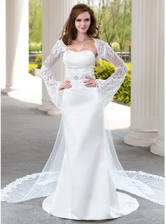 Long Sleeve Lace Wedding Wrap (013025783)