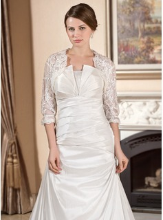 Half-Sleeve Lace Wedding Wrap (013024559)