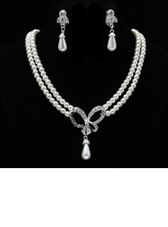 Elegant Pearl With Rhinestone Women's Jewelry Sets (011019398)