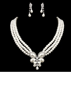 Elegant With Pearl Rhinestone Ladies' Jewelry Sets (011005550)